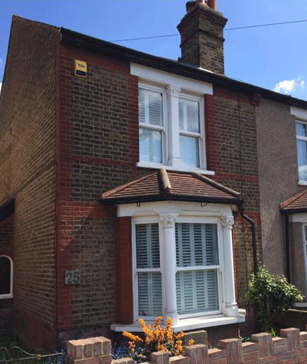 A property in need of brick repointing