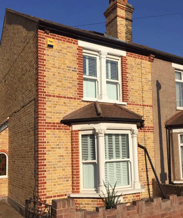 Brick Repointing and restoration on a London property
