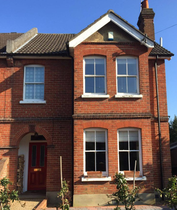 Period property in London which needs the brickwork restoring